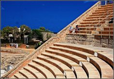 At the Roman amphitheatre Cesarea, Israel. Been there and they still use it today.