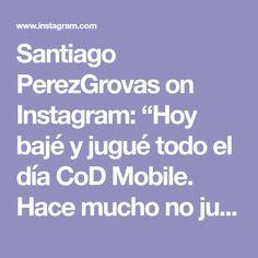 """Santiago PerezGrovas on Instagram: """"Hoy bajé y jugué todo el día CoD Mobile. Hace mucho no jugaba un shooter. Mientras sigo jugando les dejo una foto que le tomé a Daniela 📷🖤."""""""