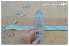 Lay napkin on top of ribbon - How to Make Paper Napkins Special