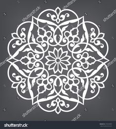 Find Circular Pattern Mandala Round Vector Ornament stock images in HD and millions of other royalty-free stock photos, illustrations and vectors in the Shutterstock collection. Stencil Patterns, Stencil Designs, Pattern Art, Embroidery Patterns, Pattern Design, Mandala Pattern, Mandala Design, Mandala Art, Crochet Mandala