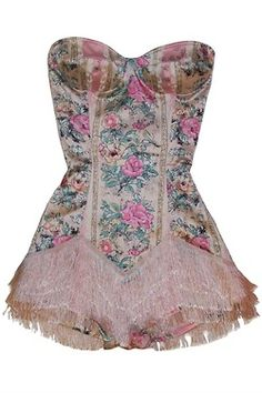 for-the-love-of-lingerie: Marie Antoinette inspired playsuit from Wheels and Dollbaby Pink Lingerie, Women Lingerie, Fashion Lingerie, Vintage Corset, Vintage Dresses, Strapless Bustier, Get Skinny, Fantasy Dress, Marie Antoinette