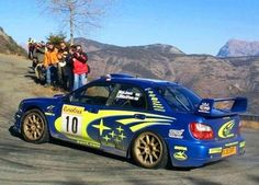 Subaru Impreza WRC 2001 driven by Tommi Mäkinen and Kaj Lindstrom to win the 2002 Monte Carlo Rally. Rally Drivers, Rally Car, Subaru Impreza Wrc, Wrx Sti, Rallye Wrc, Monte Carlo Rally, Japanese Cars, Nissan Skyline, Jdm Cars