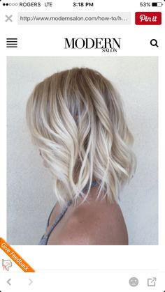 Are you starting to get bored with long hair? Why don't you try the short blonde bob hairstyles? It is really fantastic short blonde hairstyles look and. Short Blonde Bobs, Short Wavy Hair, Short Hair Styles, Short Ombre, Messy Blonde Bob, Messy Lob, Straight Hair, Blonde Lob Hair, Blonde Balayage Bob