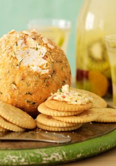Mexican-Style Party Cheese Ball Recipe - Kraft Recipes Give your cheese ball a kick of flavor. Fresh cilantro and lime plus pepper Jack cheese and chili powder spice things up. Cold Appetizers, Appetizers For Party, Appetizer Recipes, Snack Recipes, Party Recipes, Kraft Recipes, Cookbook Recipes, Cooking Recipes, Frugal Recipes
