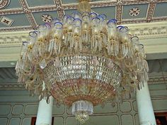 Chandeliers at Falaknuma Palace Hyderabad India | ♛♛ LUSTRES ...