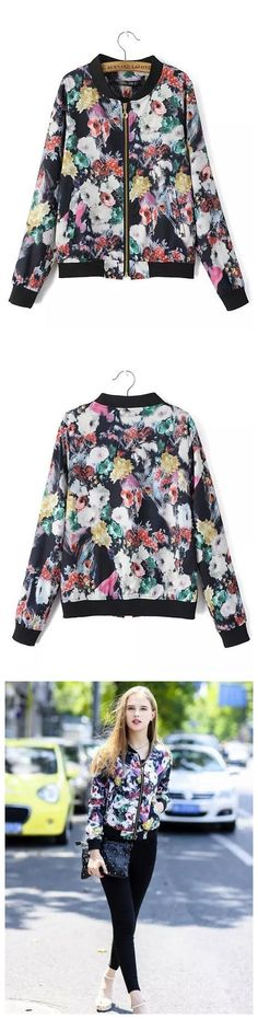 New-arrival Flowers Printed Women's Jacket