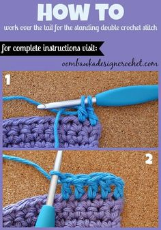 How To Join New Yarn with a Standing Double Crochet Stitch • Oombawka Design Crochet