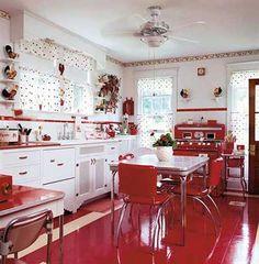 Oi, meus amores, tudo bem com vocês? :) No post de hoje vou falar sobre um estilo de decoração para cozinha que eu acho muito fofo: o estilo retrô....