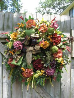 French Country Wreath Tuscan Wreath Old World by IvySageDesigns, $199.00