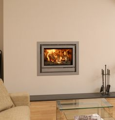 Solid Fuel Stove, Wood Burner, Fireplace Mantle, Stoves, New Homes, Lounge, Living Room, Modern Fireplaces, Building
