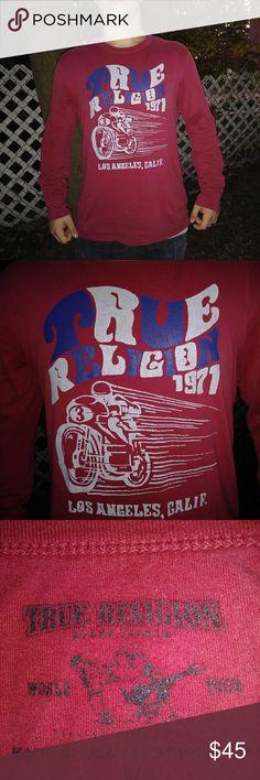 True Religion Mens Long Sleeve Tee Reads (True Religion 1971 Los Angeles Calif.) True Religion Shirts Tees - Long Sleeve