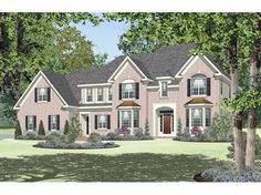 Georgian House Plan with 3661 Square Feet and 4 Bedrooms from Dream Home Source | House Plan Code DHSW65389