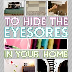 Power cords, laundry baskets, old appliances, heating grates, AC units, light switches, folding chairs, faded linoleum, and garbage cans are just a few of the things laying around the house that don't add to the overall decor and beauty. U-G-L-Y. Buzzfeed has a great roundup on how to hide...