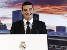 MADRID, SPAIN - AUGUST Mateo Kovacic speaks during his official unveiling as a new Real Madrid player at Estadio Santiago Bernabeu on August 2015 in Madrid, Spain. (Photo by Angel Martinez/Real Madrid via Getty Images) Real Madrid Players, August 19, Spain, Angel, Image, Santiago, Sevilla Spain, Spanish, Angels