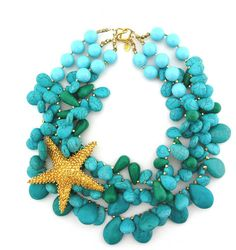Turquoise necklace to wear at beach house warming party!