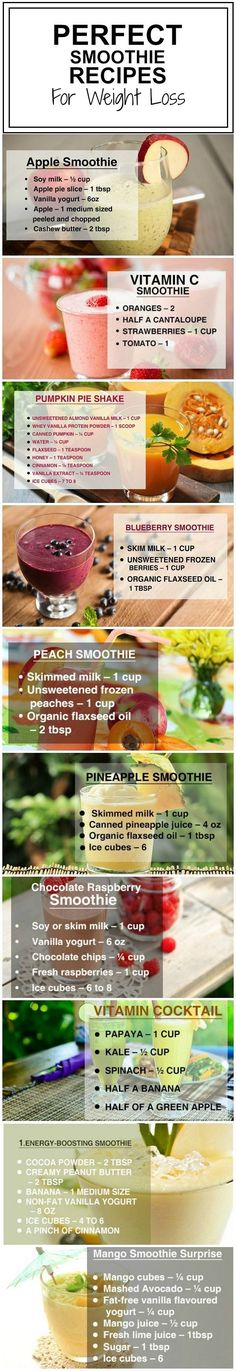 Weight Loss Recipes : The nutritious & delicious way of losing fat is by including smoothies. Shed your excess belly fat by just sipping in these weight loss smoothies. (healthy shakes for breakfast) Juice Smoothie, Smoothie Drinks, Healthy Smoothies, Healthy Drinks, Healthy Recipes, Locarb Recipes, Bariatric Recipes, Quick Recipes, Diabetic Recipes