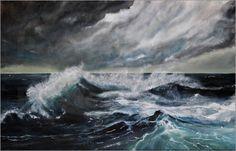 Atelier Stephanie Koehl - Stürmisches Wetter - Gemälde Acryl auf Leinwand