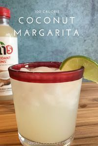 100 Calorie Coconut Margarita Recipe. I love using these as my 21 Day Fix treat swaps!