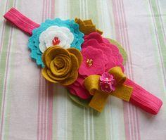 Felt Flowers Headband