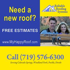 Getting a new roof in Colorado Springs shouldn't be an exercise in pain and frustration. So we've made it easy! We're experts in residential roofing and commercial roofing, and our warranties will provide you with the peace of mind you deserve. Contact us for a free roofing estimate in #ColoradoSprings. Our repair area includes Woodland Park, Pueblo and Divide, #Colorado for roof shingles and #roofing.