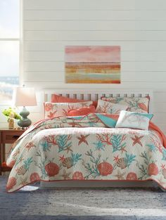 Coastal Bedding Sets and Beach Bedding Sets For 2020 - Beachfront Decor Beach Bedroom Decor, Beach Bedding, Coastal Bedding, Coastal Bedrooms, Bedroom Themes, Luxury Bedding, Bedding Decor, Beach Room, Modern Bedding