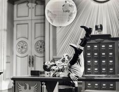 Charlie Chaplin in The Great Dictator directed by Charlie Chaplin, 1940