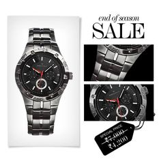 Watch is the single most important accessory a man can own, have more than one   End of Season Sale  MRP- Rs. 7000 SALE PRICE- Rs. 4200 Instant Buying – www.provogue.com