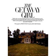 Harper's Bazaar UK Editorial The Getaway Girl, October 2010 - MyFDB ❤ liked on Polyvore featuring text, backgrounds, words, article, photos, magazine, quotes, editorials, philip sinden and phrase