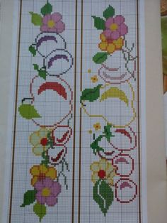 quilting like crazy Cross Stitch Fruit, Cross Stitch Kitchen, Cross Stitch Borders, Cross Stitch Alphabet, Cross Stitch Flowers, Cross Stitch Designs, Cross Stitching, Cross Stitch Patterns, Hand Embroidery Patterns
