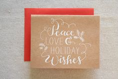 Holiday Wishes Engraved Card.