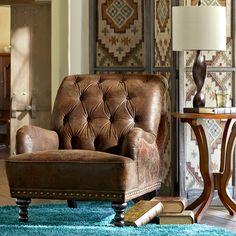 Ordinaire Chas Coffee Brown U0026 Tapestry Armchair. Pier One FurnitureAccent  FurnitureFurniture IdeasLeather ...