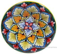 Hand Painted Ceramic Majolica Plate | 12cm