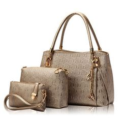 New 2016 Women Handbags Leather Handbag Women Casual Travel Bags Ladies Brand Designs Bag Handbag+Messenger Bag+Purse 3 Sets [Affiliate]