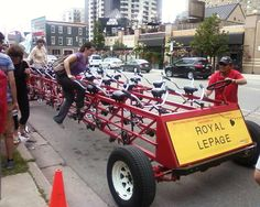 2015 Heart & Stroke Big Bike Run! What is Big Bike? One bike. 30 seats. 20 minutes. 2kms. Royal LePage Triland Realty is pleased to be a participant in this fundraiser!