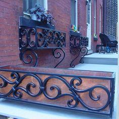 Wrought Iron Creates Old World Decorating Charm. Decor, Old World Decorating, Iron Windows, Window Box Flowers, Iron Furniture, Flower Window, Window Trim Exterior, Wrought Iron Window Boxes, Iron Decor