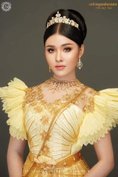 Wedding Costumes, Wedding Outfits, Cambodian Wedding Dress, Traditional Wedding Dresses, Beautiful Asian Girls, Bridal Makeup, Asian Beauty, Philippines, Thailand