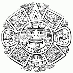 Coloring page: Aztec Mythology (Gods and Goddesses) #60 - Printable coloring pages