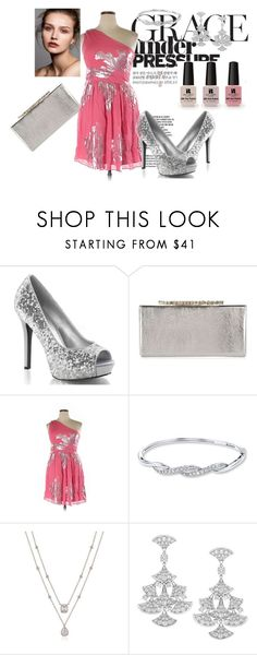 """Pink'n Silver"" by angelkyle on Polyvore featuring Jimmy Choo, Eliza J and Victoria's Secret"