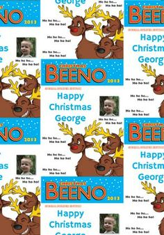 Christmas Beeno wrapping paper