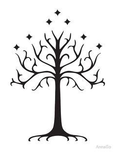 Lord Of The Rings Tree Of Gondor Vinyl Decal Sticker Herr der Ringe Baum von Gondor Vinyl Aufkleber Aufkleber BallzBeatz. Gondor Tree, Tree Of Gondor Tattoo, White Tree Of Gondor, Tolkien Tattoo, Lotr Tattoo, Baum Von Gondor, Simbolos Star Wars, Tattoo Ringe, Gandalf