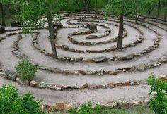 Pathways to Prayer Catholic Lent, Catholic Prayers, Moon Bathing, Labyrinth Garden, Prayer Garden, Prayer Stations, Outdoor Classroom, Garden Paths, Walkway