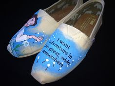 Beauty and the Beast painted Disney Toms!