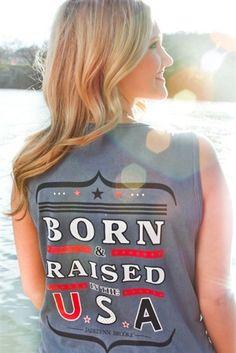 Born & Raised Tank $32.99 #southernfriedchics