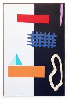 Alex Ebstein's colorful cutouts incorporate yoga mats | sightunseen.com