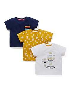 £12 3 Pack Pure Cotton Assorted T-Shirts | M&S