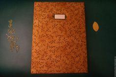 Купить Альбом для гербария с калькой А4 - коричневый, ботаника, гербарий, альбом для гербария, ручная работа