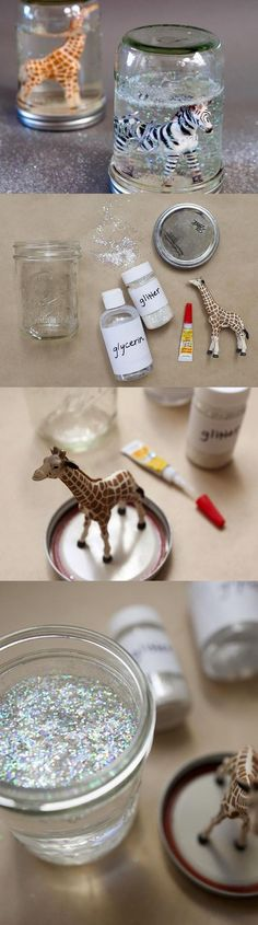 Turn old toys in to DIY snow globes! | 27 Cheap And Easy Gifts To Make With Kiddos