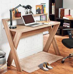 Carmelo, psací stůl z dílny Hokku Designs, masivní dřevo světlý dub, 119 × 49,5…