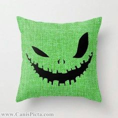 Easy DIY Oogie Boogie throw pillow. I love the nightmare before christmas!