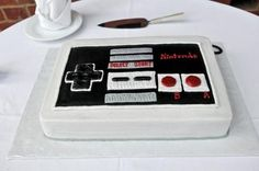Aah, Chris' groom's cake is picture-perfect gaming confection - The single most awesome groom's cake ever. Note the raised buttons made of butter creme Cakes To Make, How To Make Cake, Creative Cake Decorating, Creative Cakes, Decorating Ideas, Creative Food, Decor Ideas, Craft Ideas, Cake Cookies